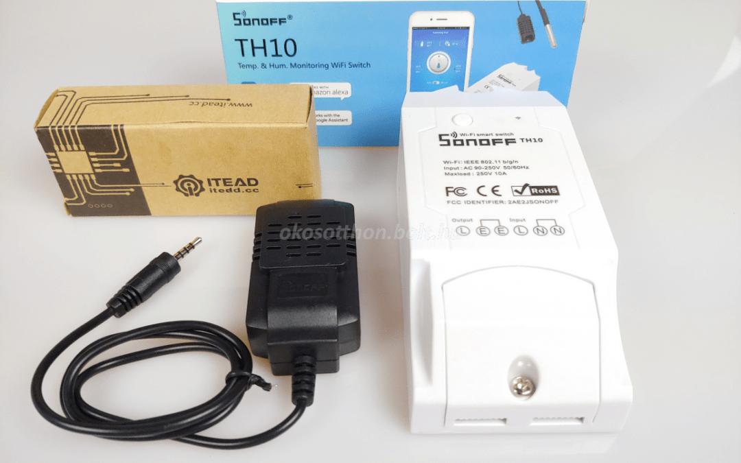 Fagyvédelem vezérlése Sonoff TH10 vagy TH16 okosreléhez kapcsolt hőmérővel